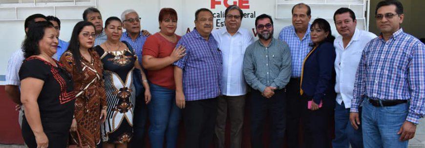 Reapertura Sergio Guzmán Ricárdez oficinas de la Fiscalía General del Estado en Agua Dulce