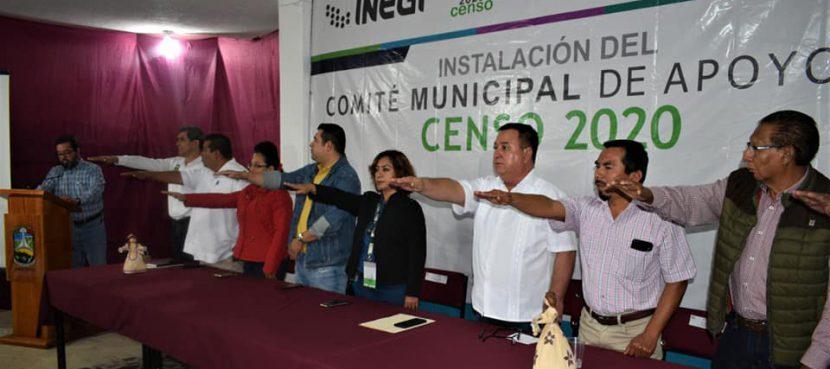 Toma protesta comité de apoyo al censo de población y vivienda 2020 en Agua Dulce