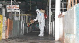 Implementan sanitización en mercado campesino de Agua Dulce
