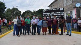 Cumpliendo compromisos: Sergio Guzmán Ricárdez inaugura pavimentación de Boulevard Azteca