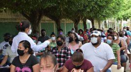 Se aplican más de 10 mil vacunas contra COVID-19 en Agua Dulce